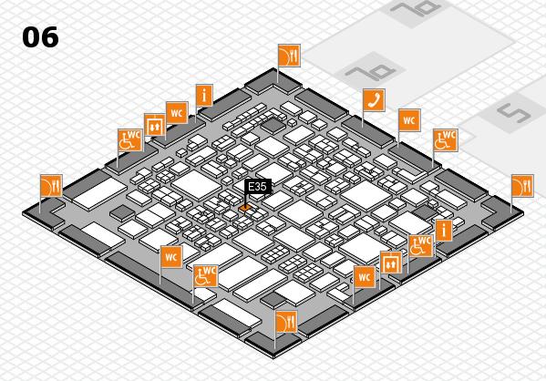 REHACARE 2017 hall map (Hall 6): stand E35