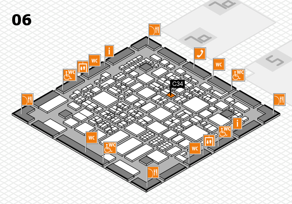REHACARE 2017 hall map (Hall 6): stand C34