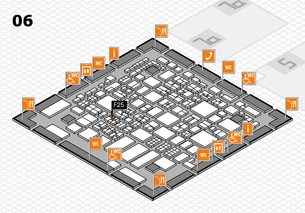 REHACARE 2017 hall map (Hall 6): stand F25