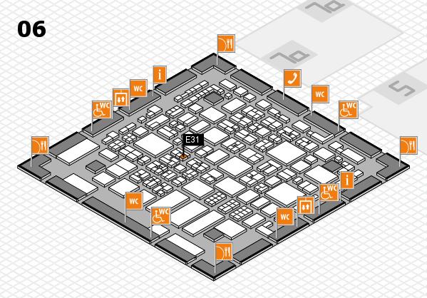 REHACARE 2017 hall map (Hall 6): stand E31