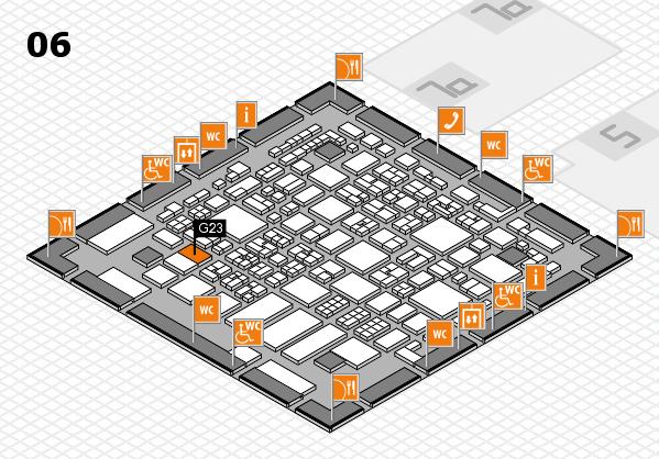 REHACARE 2017 hall map (Hall 6): stand G23