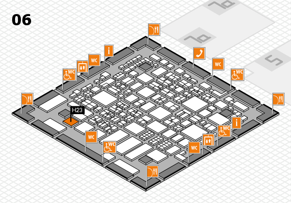REHACARE 2017 hall map (Hall 6): stand H23