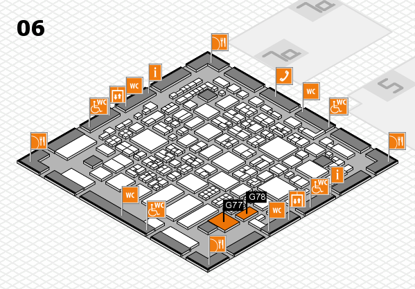 REHACARE 2017 hall map (Hall 6): stand G77, stand G78