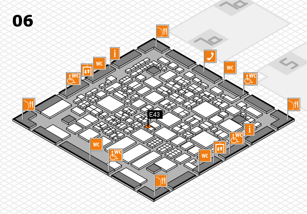 REHACARE 2017 hall map (Hall 6): stand E43