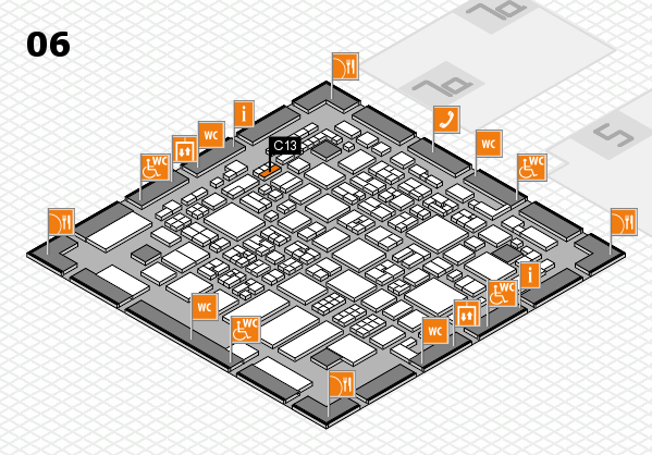 REHACARE 2017 hall map (Hall 6): stand C13