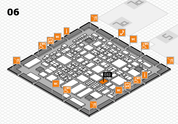 REHACARE 2017 hall map (Hall 6): stand E63
