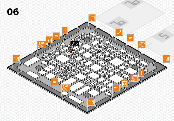 REHACARE 2017 hall map (Hall 6): stand D15