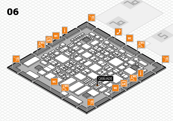 REHACARE 2017 hall map (Hall 6): stand G68.A05