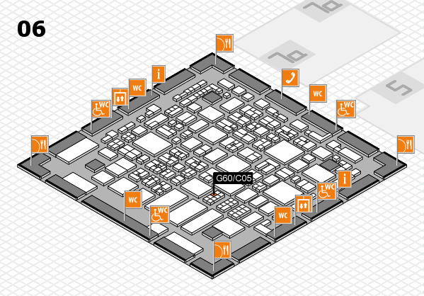 REHACARE 2017 hall map (Hall 6): stand G60.C05