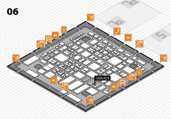 REHACARE 2017 hall map (Hall 6): stand G68.A03