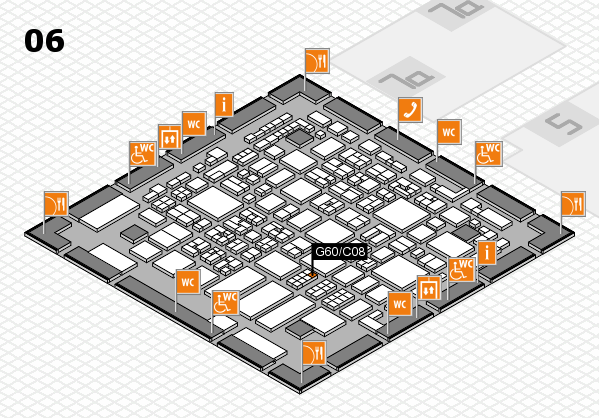 REHACARE 2017 hall map (Hall 6): stand G60.C08