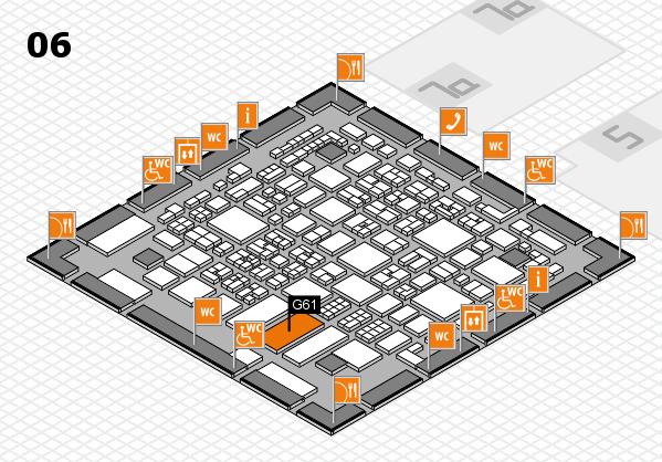 REHACARE 2017 hall map (Hall 6): stand G61
