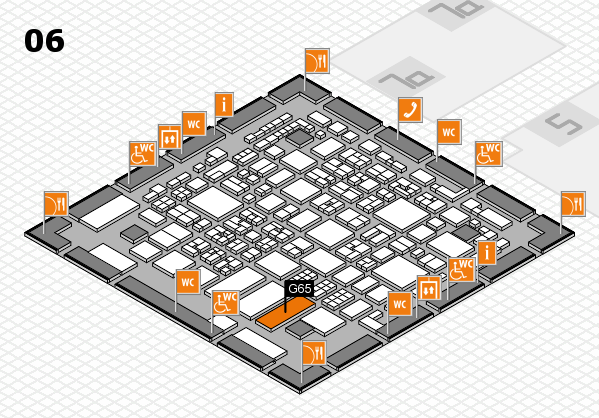 REHACARE 2017 hall map (Hall 6): stand G65
