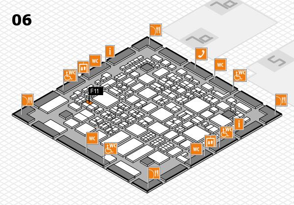 REHACARE 2017 hall map (Hall 6): stand F11