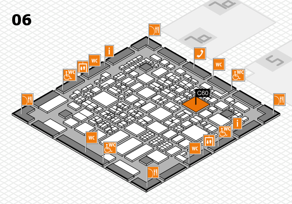 REHACARE 2017 hall map (Hall 6): stand C60