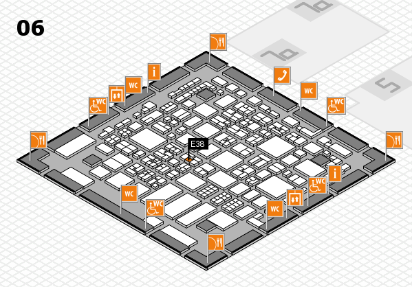 REHACARE 2017 hall map (Hall 6): stand E38