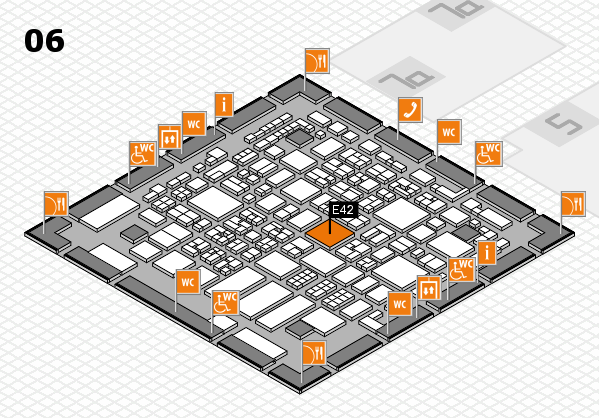 REHACARE 2017 hall map (Hall 6): stand E42