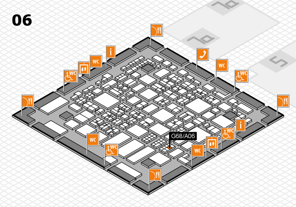 REHACARE 2017 hall map (Hall 6): stand G68.A06