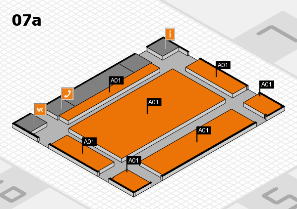 REHACARE 2017 hall map (Hall 7a): stand A01