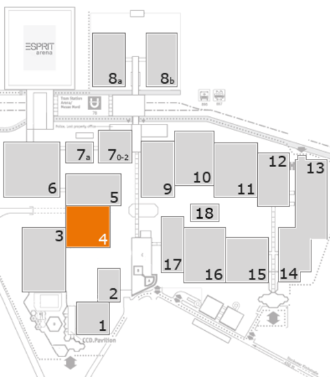 REHACARE 2016 fairground map: Hall 4