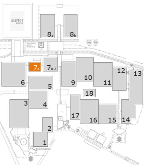 REHACARE 2016 fairground map: Hall 7a