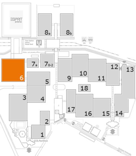 REHACARE 2016 Geländeplan: Halle 6