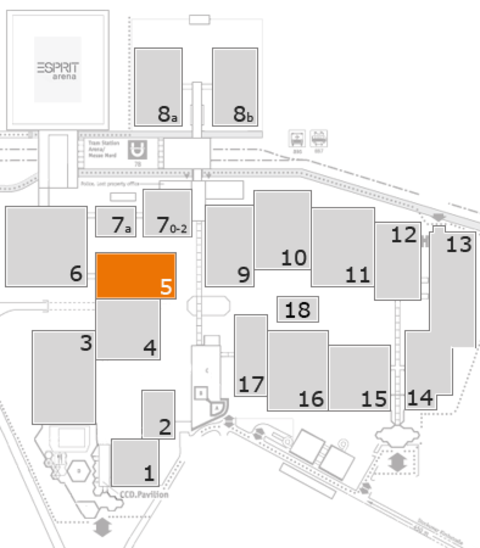 REHACARE 2016 fairground map: Hall 5
