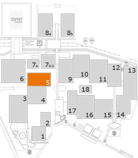 REHACARE 2016 Geländeplan: Halle 5