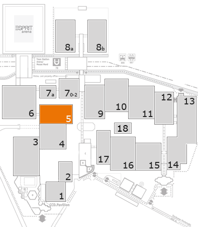 REHACARE 2017 fairground map: Hall 5