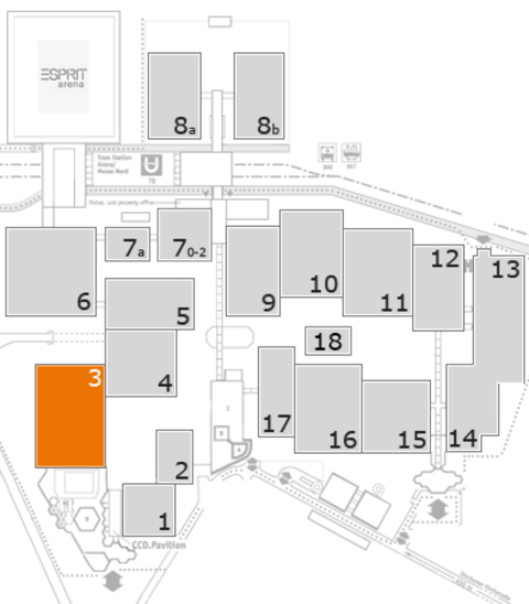 REHACARE 2016 fairground map: Hall 3