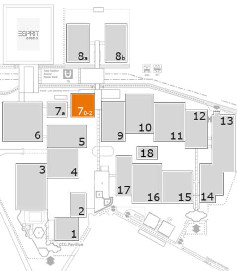 REHACARE 2016 fairground map: Hall 7