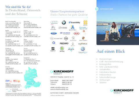 Fahrzeugumbauten von KIRCHHOFF Mobility