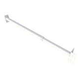 SecuBar Barrier grade Single, White, In the day, 1000-1800 mm