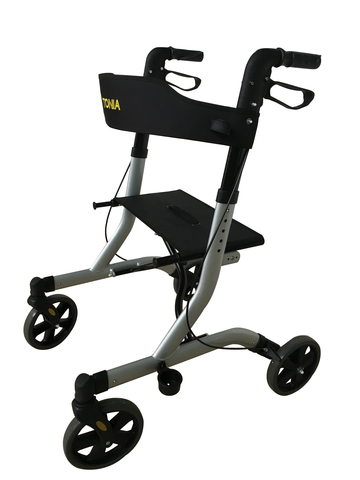 Aluminum frame lightweight rollator wheel with seat