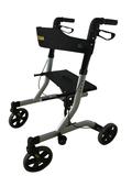 Aluminum frame lightweight rollator wheel with seat