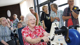 elderly having fun
