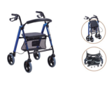 JL9188LH Knock Down 4 Wheel Aluminium Rollator