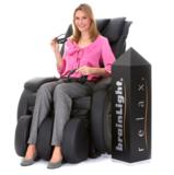 brainLight relaxTower mit Shiatsu-Massagesessel Gravity PLUS