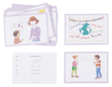 Kita-Kinder lernen Deutsch mit Bildkarten
