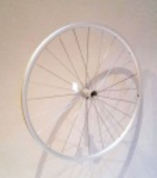 "24"" (540) silver wheel - no tyre, no handrim - 12 mm - 2nd quality"
