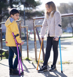 Coloured Crutches for Kids made of light aluminium