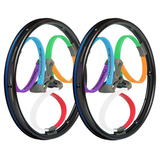 Multi-Coloured Wheelchairs Wheels