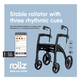 Rollz Motion Rhythm parkinson rollator with three rhythmic cues